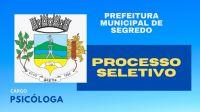 Prefeitura de Segredo abre processo Seletivo para o cargo de Psicóloga
