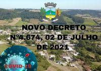 Decreto Nº 4.674 , 02 de julho na  prevenção e enfrentamento a  COVID-19