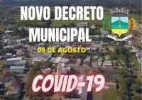 Município de Segredo faz novo decreto  -de 09 de agosto  de 2021