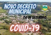 Município de Segredo  tem novo decreto -de 08 de setembro de 2021
